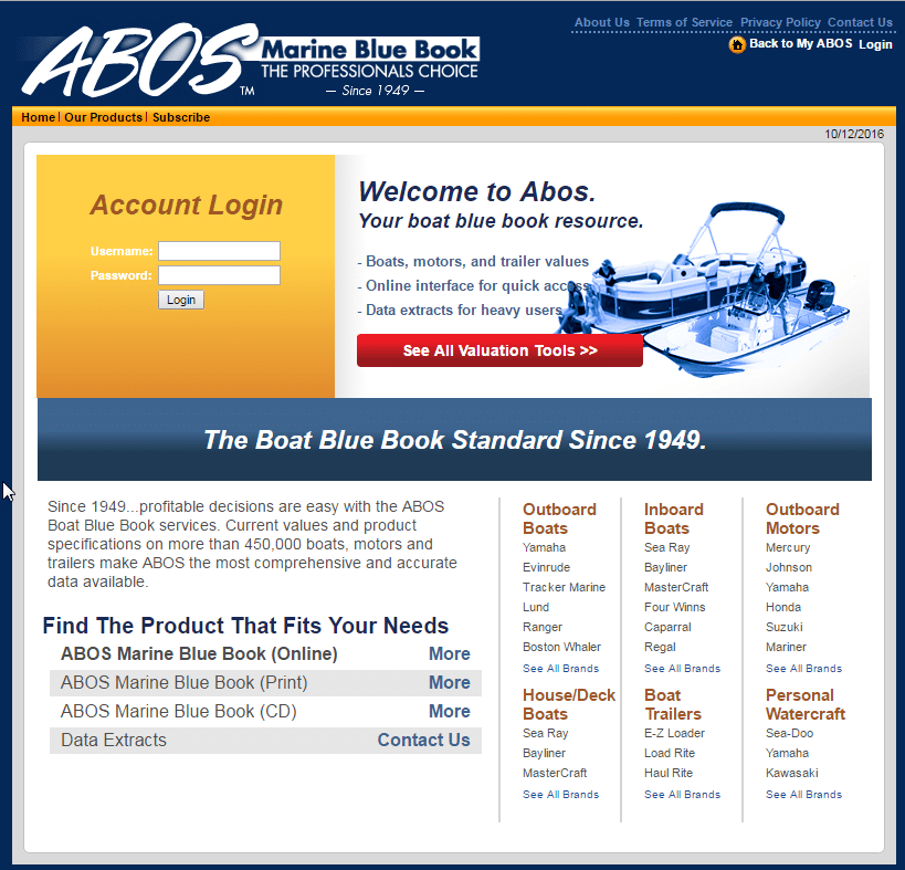 Abos The Most Trusted Accurate Marine Prices And Values
